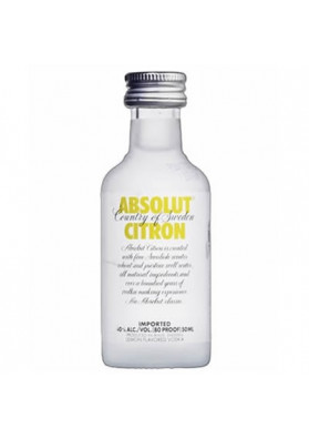 Vodka Absolut Citron 50ml (miniatura)