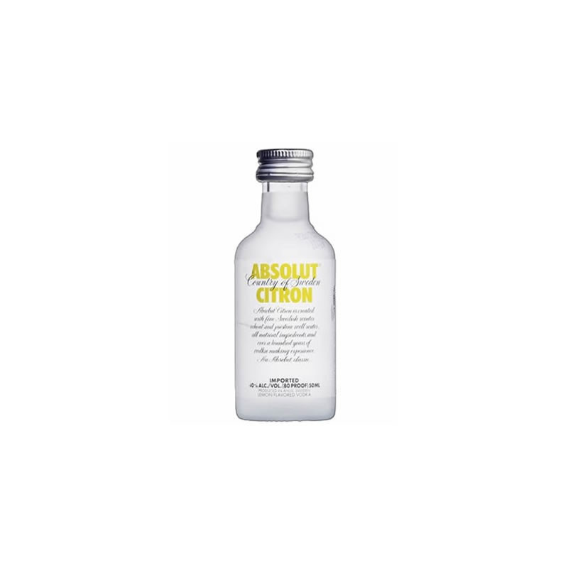 Vodka Absolut Citron 50ml (miniatura)