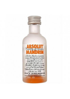 Vodka Absolut Mandrin 50ml (miniatura)