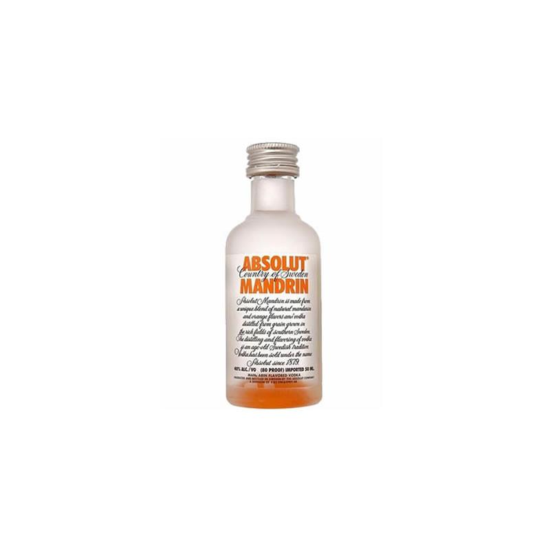 Vodka Absolut Mandrin 50ml (miniatura)