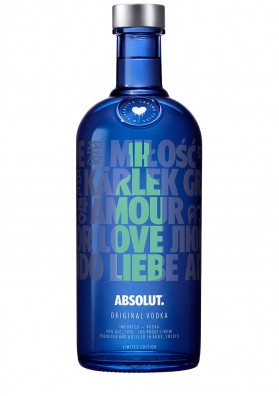 VODKA ABSOLUT A DROP OF LOVE 1000ML