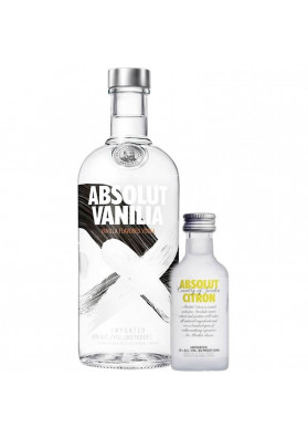 Kit Vodka Absolut Vanilla 750ml + Absolut Citron 50ml.