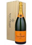 Champagne Jeroboam Veuve Clicquot Brut 3000 ml com caixa de Madeira