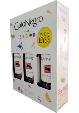Kit 3 Vinho Chileno Gato Negro Cabernet Sauvignon 750ml