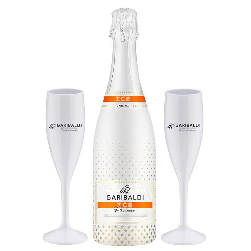 Kit Garibaldi Prosecco Ice 750ml + 2 taças personalizadas