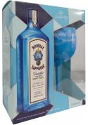 Kit Bombay Sapphire 750ml com taça (Stir Creativity)