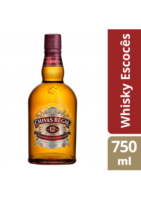 Whisky Escocês Chivas Regal 12 anos - 750ML