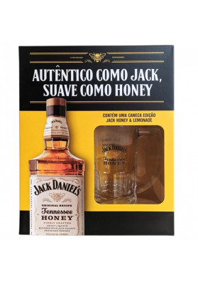 Kit Jack Daniels Honey & Lemonade com Caneca 1000ml