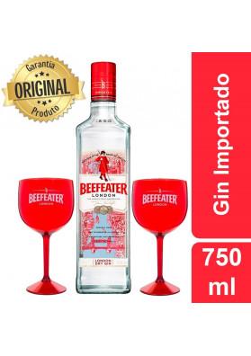 Kit Gin Beefeater London Dry 750ml + 2 Taças