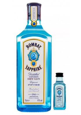 Kit Bombay Sapphire 750ml + Miniatura Bombay Sapphire 50ml