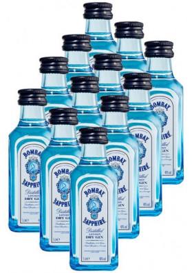 Kit 12 Miniatura Gin Bombay Sapphire 50ml