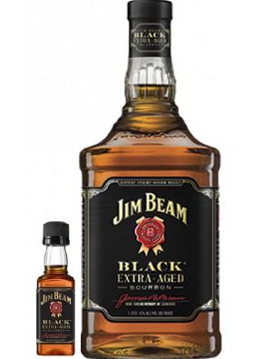 Kit 1 Jim Beam Black Extra Aged 1L + 1 Mini Jim Beam Black Extra Aged 50ml