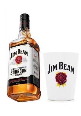 Kit 1 Jim Beam Original 1000ml + 1 Copos Personalizado