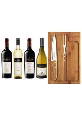 Kit Churrasco + 4 Vinhos Arg. Terrazas Reserva 750ml ( 1 Malbec / 1 Cabernet Sauvignon / 1 Torrantes / 1 Chardonnay).