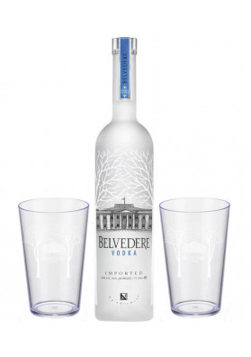 Kit Vodka Belvedere Pure 700 ml + 2 Copo Personalizado