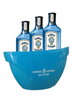 Kit 3 unid. Gin Bombay Sapphire 750ml + 1 Balde de Gelo Personalizado (Stir Creativity)