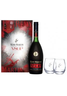 Kit Rémy Martin V.S.O.P. 700 ml + 2 Copos Personalizados