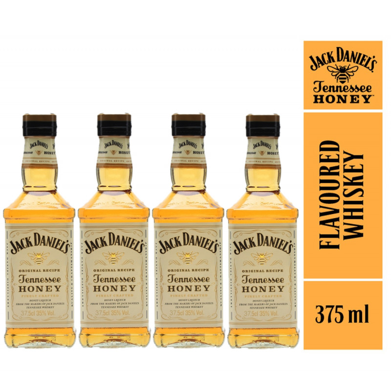 Kit Mini Jack Daniels Honey 375ml - 4 Garrafas