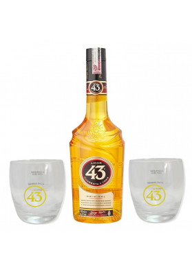Kit Licor 43 (Cuarenta y Tres) 700 ml + 2 Copos
