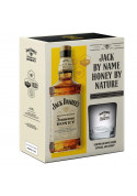 Jack Daniel's Honey 1L com 1 Copo (Kit)