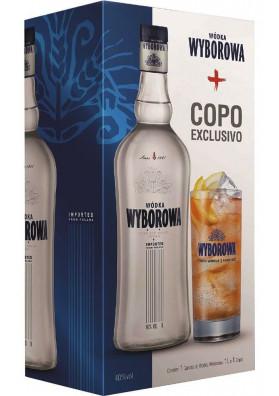 Wyborowa 750 ml com copo